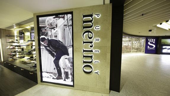 Purely Merino, Melbourne Airport – Alexander Interiors